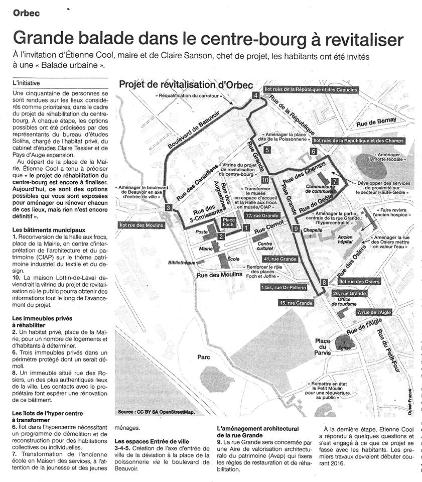 Article de presse - Rendu en marchant Anne Tessier